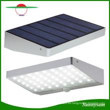 48PCS 2835SMD LED Solar PIR Sensor de movimiento del cuerpo humano Luz de seguridad Luz al aire libre IP 65 Impermeable 600lm Lámpara inteligente inalámbrico Luz de pared solar