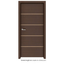 Shaker Style Solid Wood Melamine Door with Metal Strips