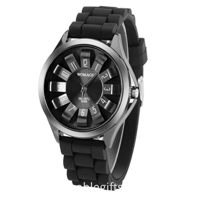 black geneva women watch