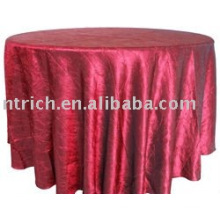 Toalha de mesa lindo de tafetá esmagado