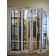 Puerta plegable de aluminio