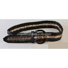 Cadeia de metal trançado qualidade cinto de moda