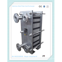 Intercambiador de calor de placa entera sin soldadura para calefacción y refrigeración de bebidas