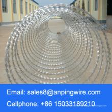 Verzinkte Concertina / Spirale Art von Rasiermesser Stacheldraht