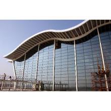 Niedriges Kosten-Stahlkonstruktions-Bau-Glasvorhang-Wandsystem