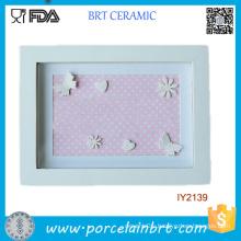 Wholesale Cheap White Rectangle Ceramic Photo Frame