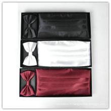 Ensemble de ceinture et noeud papillon en polyester pour homme