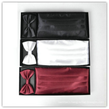 Mens Fashion Polyester Cummerbund and Bowtie Set