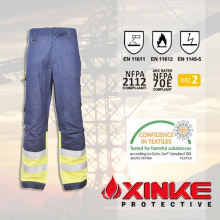 Светоотражающие огнезащитных брюки со светоотражающими лентами