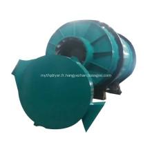 Sécheuse minérale dans un équipement de séchage rotatif