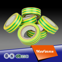 High qaulity gree and yellow pvc flame retardant tape