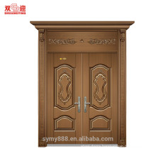 Steel metal security door with security hinges
