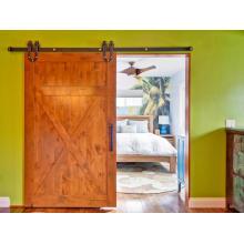 Porta de celeiro deslizante do amieiro Knotty do estilo da X-cinta