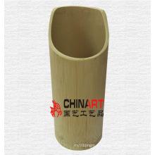 Recipiente de tubo de bambu puramente natural