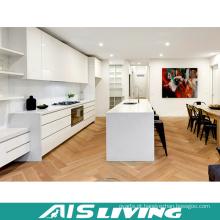 Armário de cozinha da pintura da madeira compensada do laminado do MDF da qualidade superior de alto brilho moderno / preço China do armário da cozinha (AIS-K717)