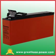Front Terminal Hybrid Gel Telecom Batterie 125ah 12V