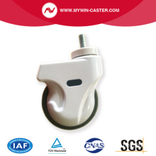 5 inch Screw thread medical caster with brake