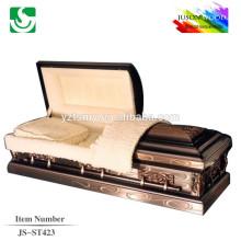 JS-ST423 good quality gold china church caskets factory