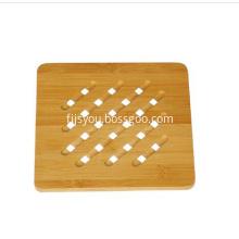 Organic bamboo pot coaster trivet mat