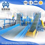 PET plastic recycling machine, pet bottle washing plant, waste plastic crushing washing line