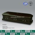 Sculpté à la main de LUXES en bois américain cercueil pour enterrement