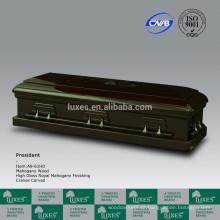 LUXES mão esculpida de madeira americana caixão para o Funeral