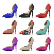 El nuevo tacón alto del diseño señaló los zapatos de la señora del dedo del pie (S15)