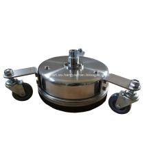"""Limpiador de superficies de acero inoxidable de 8 """"y 12"""" con ruedas"""