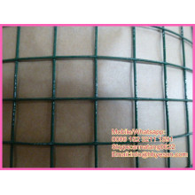 pvc coated welded wire / pvc poultry welded mesh / green vinyl welded fence