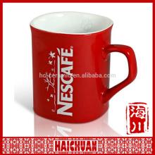 HCC de alta calidad dibujo panda cerámica taza de color de borde