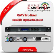 Receptor óptico satelital de alta velocidad de CATV y L-Band