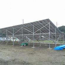 Solar carport/steel ground mounting system