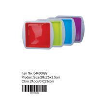 Colorful silicone square pan