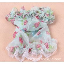 Pet Clothes - Blue Floral Skirt Dog Clothes