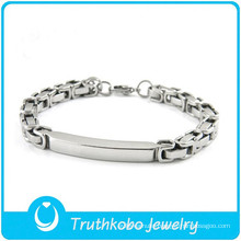 TKB-B0100 Wholesale silver jewelry fashion hand chain 316L stianless steel mens bracelets
