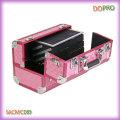 Rosa diamante ABS superficie profesional de aluminio caso de maquillaje (sasc089)
