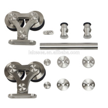 New Stainless Steel Barn Sliding Door Hardware With Soft Close Damper For Door Fittings