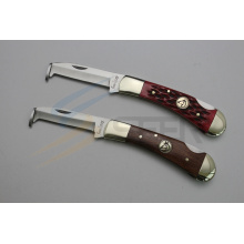 "6.8 ""Ox Bone Handle faca de bolso com Hoof Cleaner (SE-480)"