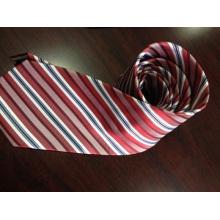 Customized Red Stripe Silk Ties in Hangzhou