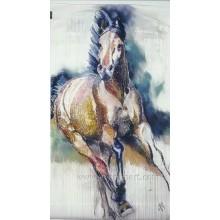 Оптовая Дикая живопись маслом лошадей на холсте стены Home Art Decor (EAN-371)