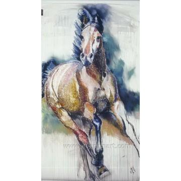 Vente en gros de peintures à l'huile de chevaux sauvages sur toile Décor d'ameublement d'art mural (EAN-371)