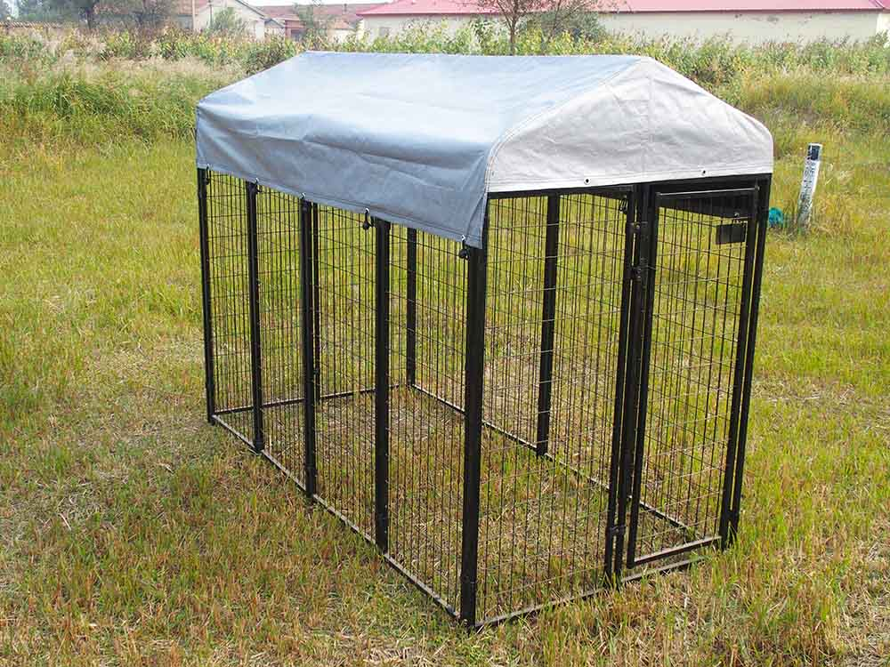 welded square tube dog kennel