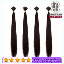 Silk Straight Natural Long 20inch Remy Human Virgin Hair Extension V Tip Hair