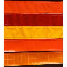 Verschiedene orange reflektierende PVC-Bänder
