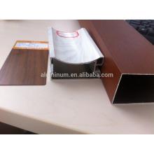 wooden powder coated aluminium /wood grain aluminium