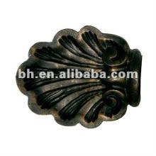 Окрашенная черная квадратная крышка для занавесок из смолы, медная трубка с крышкой из ПВХ