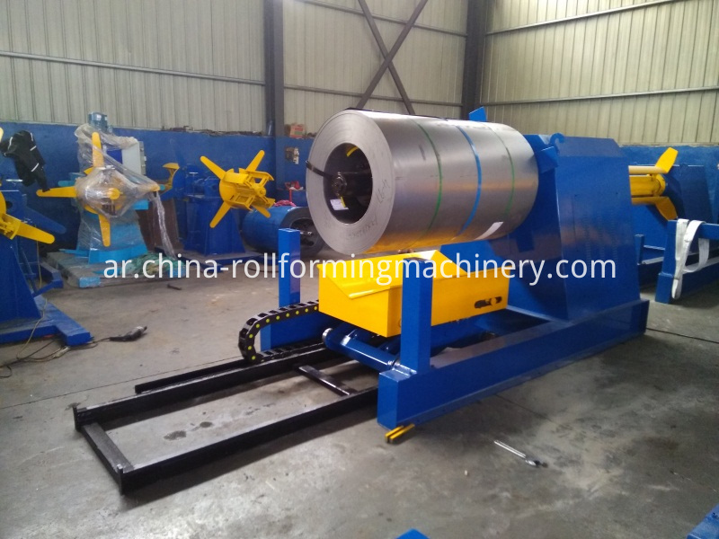 7 Tons Hydraulic Decoiler With Steel Coil