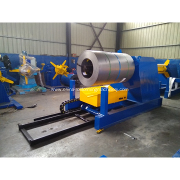 Hydraulic decoiler with small coil car