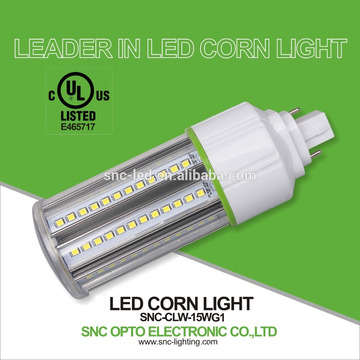 Vente chaude UL cUL énumérés conduit lumières de trou de maïs 15w G24d, G24q base maïs épi ampoule lumière / lampe 15 w maïs lumière