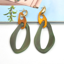 Irregular shape resin acrylic clip on earrings jewelry for women wholesale earring mixed